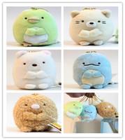 "Wholesale San X Wholesale - Hot Sale 3"" 5pcs set San-X plush pendants Sumikko gurashi plush Keychain Animals Toy For Gifts"