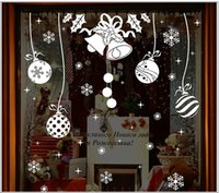 3D Snowflake Bells Wall Sticker DIY Décoration intérieure Snow Town Décorations de Noël Verre de fenêtre Decorative New Year Sticker mural amovible