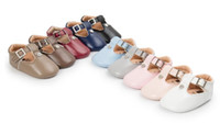 Wholesale Wholesale Crystal Baby Shoes - Newest PU leather crystal baby girl Anti-slip Shoes Baby Crib Shoes princess