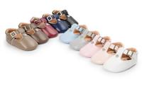 Wholesale Baby Crib Shoe Sizes - Newest PU leather crystal baby girl Anti-slip Shoes Baby Crib Shoes princess