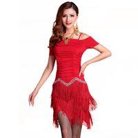 Wholesale Women Latin Dance Tops - 2016 Latin Dance Dress Women 2pcs(Top+Skirt) Ballroom Dance Skirts Dance Wear Roupa De Ginastica Vestidos De Baile Latino