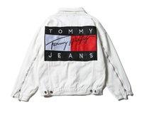 Wholesale Denim Jacket Vintage - Spring Autumn hiphop Pablo Jackets Brand New streetwear couple Vintage Denim Patch Designs Jeans Jacket Men Coats Plus Size
