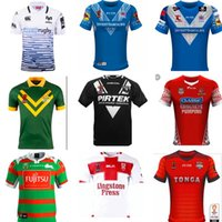Wholesale England Rugby Xxl - 2017 2018 World Cup NRL Jersey England rugby shirt 17 18 kiwi tonga rugby Jerseys SAMOA kiwis NRL National Rugby League Australia shirts