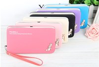 Wholesale Mobile Phone Pencil - New lady long pencil-box mobile phone purse women zero wallet han edition clutch no12