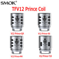 Wholesale Original Authentic - Original SMOK TFV12 Prince Cloud Beast Coil Head Replacement V12 Q4 X6 T10 M4 Coils Massive Vapor Vape Core Tank 100% Authentic