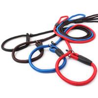 Wholesale Nylon P Leash - Brand New Adjustable Nylon Dog Collar Leash Dog Training P Leash 4 Colors 3 Sizes WA0797