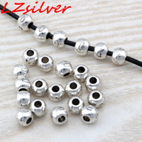 MIC 200PCS Antique silver Zinc Alloy Bali Style Round Spacer Bead 7x6mm DIY Jewelry D18
