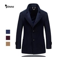 Wholesale Wool Coating Fabric Men - Fall-2016 Autumn Winter Keep Warm Trench Coat Men Tops Brand High Quality Wool Fabric Fashion Business Office Coat Plus size M~4XL