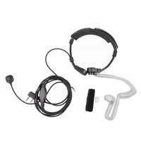 Wholesale Radio Headset Throat Mic - Walkie Talkie Telescopic Extendable Throat Microphone Mic Earpiece Headset for Baofeng UV-82 UV-5R Ham CB Radio
