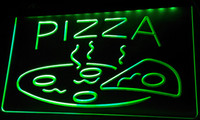 LS093-g ABERTO Hot Pizza cafe Neon Signs Luz