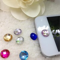 Wholesale Iphone Rhinestone Button Sticker - 1000 pcs a bag For Apple Series Universal buttons stickers.Button Sticker, Rhinestone button stickers, key protector