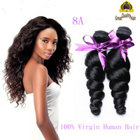 Wholesale Brizilian Malaysian Peruvian Human Hair - Malaysian Peruvian Brazilian 100% Human Hair Weave Loose Wave 1 Bundles Weave 8A Top Brazillian Hair Extension Brizilian Hair