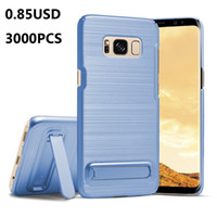 Wholesale Light Protectors - For Samsung S8 Plus Case S8 S7 S7 Edge Galaxy Note 7 Phone Protector Hybrid Brushed New Case with Kickstand