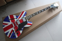 Wholesale Electric Guitar Flag - Free shipping 2017 Top quality G-LP Rosewood British flag Hollow 6 Strings natural Wood Electric Guitar