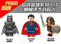 Wholesale Dawn Women - 120pcs PG8007 Super Heroes Minifigures Batman Dawn Justice VS superman wonder woman Blocks Bricks Baby toys