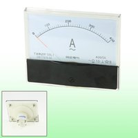 Gros-AC 0-400A Ampermètres Fine Tuning Dial Panel Rectangle analogique ampèremètre AC 400A Ammeter