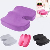 Wholesale cars foam chair for sale - Travel Seat Cushion Memory cotton cushion Office Chair pad Car Seat Pillow Cushion Back Pain Sciatica Relief Sofa Sponge Cushions HH7