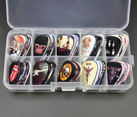 Wholesale beatles band - 100Pcs Rock Band mm Guitar Picks Plectrum ACDC LED Zeppelin GNR Beatles With Box