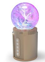 ionensprecher für großhandel-P2 magische Kugel Nachtlicht berühren drahtlose Bluetooth Lautsprecher Soundkarte bunte Licht SP2 negative Ionen induzierte aktuelle Subwoofer Karte DHL schnell