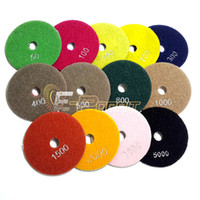 "Wholesale Wet Polish Pads - 4"" Diamond Flexible Polishing Pad Wet Grinding Disc for Marble Stone Glass Ceramics"