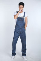 Wholesale Overalls Male - Fashion Casual Mens Denim Overalls Jumpsuit New Male Stylish Jeans Jumpsuits Bib Pants For Men