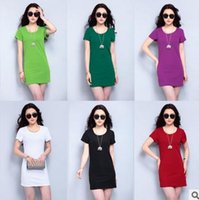 Casual Dresses spaghetti top shirt - 2016 color Elegant Women Shirt Dress Top Tee Summer Style Short Sleeve Stripes Loose Casual Jersey Mini Shift Dress Shirt C60