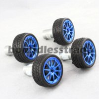 Wholesale Diy Electric Rc Car - OPHIR 4Pcs DIY Kits Smart Car Robot Motors with Wheels Motor Bracket RC Parts Accessory Toys & Hobbies Rubber Tires_KD101-4x