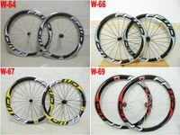 Wholesale ffwd rims resale online - 4 colors FFWD mm rim alloy carbon road bike wheels glossy finish k weave c bicycle wheels
