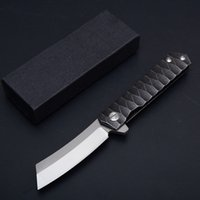 Wholesale Computer Points - High Quality 2 Styles Computer Gongs All Steel Non-Slip Pattern Handle Outdoor Survival Knives EDC Folder Tanto Point D2 Steel Knife D61Q