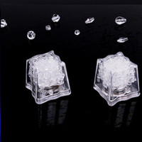 Wholesale dry decor resale online - Led ice cube Lights Polychrome Flash Ice Liquid Sensor Glowing Ice Cube Submersible Lights Decor Light Up Bar Club