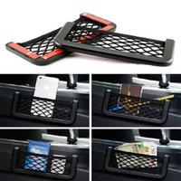 2017 di alta qualità Universal Car Seat Side Back Net Storage Bag Phone Holder Pocket Organizer Spedizione gratuita