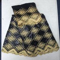 Wholesale Damask Guinea Brocade - damask shadda bazin riche guinea brocade fabric with powder black zazin embroidery for party 5 + 2 yards