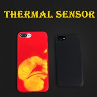 Wholesale Funny Phones - Phone Case For iPhone 6 6s plus 7 7 plus 8 8plus Physical Thermal Case Funny Heat Case Induction Discoloration Back Cover