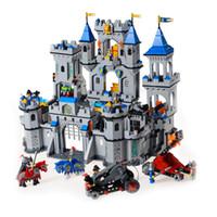 Wholesale Building Blocks Castle - Building Block Set Enlighten 1023 Enlighten Medieval Lion Castle Knight Carriage Model Toys for Children