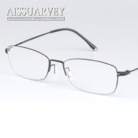 fa0cc2625d4 Wholesale vintage prescription glasses online - Vintage classic Full rim  pure titanium optical prescription clear eye