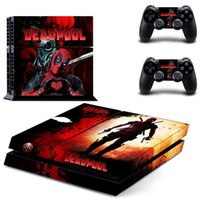 Wholesale Playstation Systems - Deadpool PS4 Sticker Vinly Skin + 2 controller skins PS4 Decal Stickers for PS4 System Playstation 4 Console