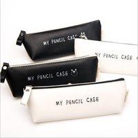 Wholesale Laces Case - Wholesale-Fresh Style Lace Fringe Little Flowers Multi-function Zipper Bag Storage Bag Gift Pen box my pencil case Pen box