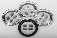 ingrosso ciglia finte al dettaglio-Ciglia magnetiche magnetiche 3D di estensione dei cigli magnetici Ciglia finte magnetiche dei capelli di trucco con l'imballaggio al minuto DHL