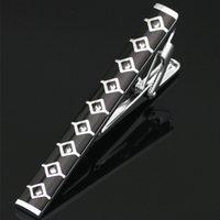 krawatte clip stahl großhandel-Gentleman Silber Metall Einfache Edelstahl Krawatte Krawatte Clip Bar Pin Praktisch Für Männer Geschenk L-206