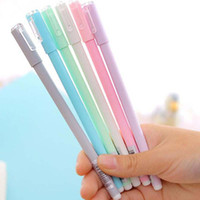 Wholesale free shipping office supplies - Free Shipping 20pcs lot Gel Pens Pen Stationary Marking Pens Office Home School Supplies Portable Writing Pen Papelaria