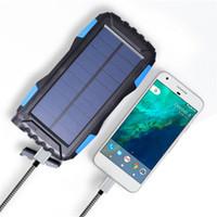 Wholesale dustproof phones - Highlight Waterproof 50000mAh Novel solar Power Bank LED Solar Power Banks for Cell Phone PC Dustproof portable Camp light Solar Charger