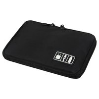 Wholesale Digital Silk Fabric - Wholesale- Organizer System Kit Case Storage Bag Digital Devices USB Data Cable Earphone Wire Pen Travel Insert Useful