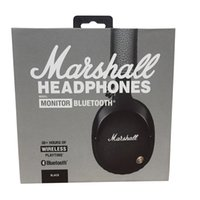Casco audio wireless bluetooth del monitor Marshall sulle cuffie senza fili dell'orecchio - nero