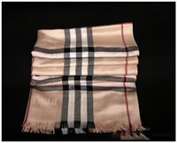 Wholesale Silk Scarfs Neck - Fashion Wool Winter Scarf Women Scarf Plaid Thick Brand Shawls and Scarves for Women Imitation cashmere Neck Warmer