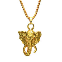 Wholesale long elephant necklace - Fashion Jewelry long nose elephant animal pendants men and women necklace N831