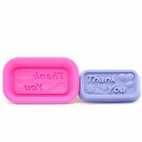 "Wholesale Cake Cupcake Candles - 500pcs ""Thank you"" Word Design Soap Mold Silicone Chocolate Soap Mould DIY Pattern Cupcake Craft Candle Mold ZA0591"