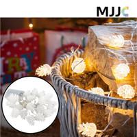 batteriebetriebene im freien weihnachtsbäume großhandel-20LED Tannenzapfen Shap Batteriebetriebene Lichterketten Wasserdichte LED-Licht für Weihnachtsbäume Hochzeit Urlaub Indoor Outdoor Dekoration