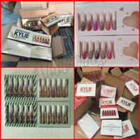 Kylie Jenner Birthday Limited gold Edition Quiero que todos los lápices labiales Mate terciopelo 6pcs kylie envíeme más nude valentine lipgloss kit