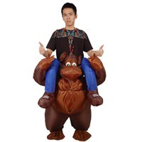 Wholesale Movie Inflation - Novelty Inflation Gorilla Costume Ride on Me Mascot Carry Back Fancy Up Party Unisex Costume Festival Clothes Funny Pants