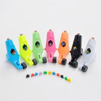 Wholesale Ego Tattoo - New Arrival Tattoo Supply 7 Colors Little Ego Rotary Tattoo Machine Guns with Tattoo Clip Cord